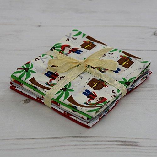 Fat Quarter Stoffpaket Piraten 6Stoffe 45,7x 55,9cm Patchwork/Quilten/Nähen/Geschenk/Stoff Crafts. - Königreich Parfüm