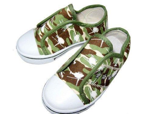 Teenies2TEENZ Jungen Turnschuhe Camouflage Muster Neu Grün, Camouflage