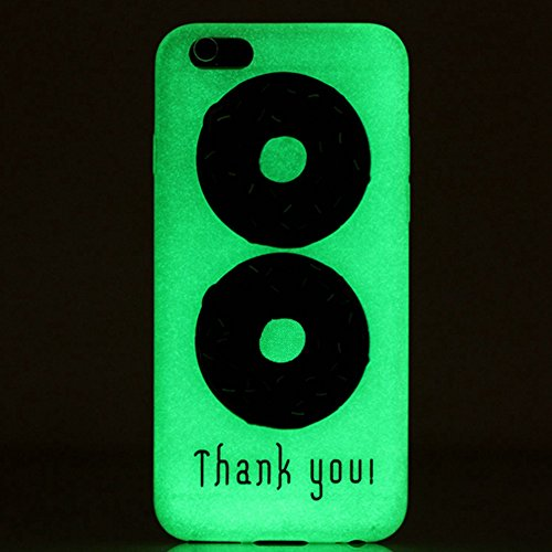 TIODIO® 4 en 1 Pour Apple iPhone 6S Plus/iPhone 6 Plus, TPU Silicone Shell Housse Coque Étui Case Cover, Stylus et Film protecteur inclus, Brille dans le noir, B30 B25