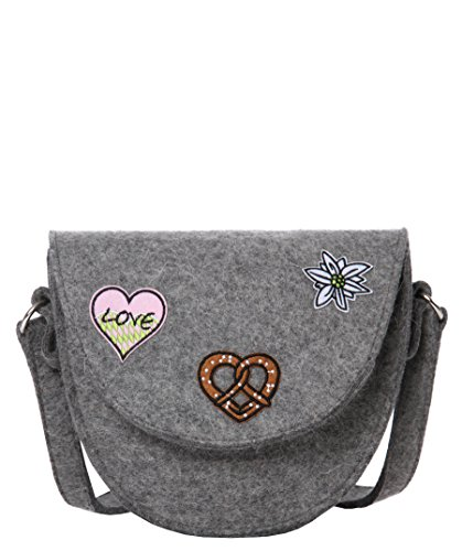 CODELLO Codello Damen Umhänge-tasche mit Patches, Borsa a tracolla donna Beige