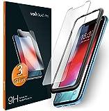 vau iPhone Xr Panzerglas Glas Pro Schutzfolie 3 x Panzerglasfolie Vorne + Installationswerkzeug Displayschutzfolie Front (f�r Apple iPhone 10r 6.1 LCD 2018) Bild