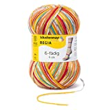 Regia 6-fädig Color 9801285-01125 Square Circus Handstrickgarn, Sockengarn, 50g Knäuel