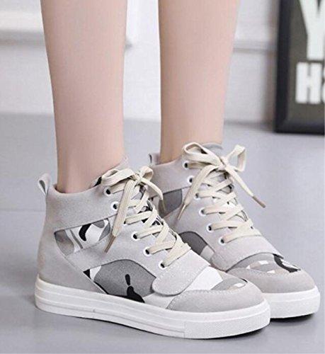Scarpe Casual Womus Canvas Casual alla moda Scarpe classiche aumento delle scarpe classiche 5