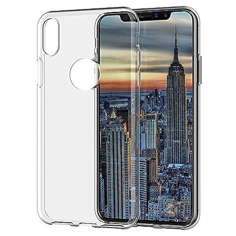 [Lot de 2] Coque iPhone X Edition, SPARIN TPU Ultra Mince Étui Silicone Souple Transparente Crystal Anti - Scratch Protection Etui Pour iPhone X Edition 2017