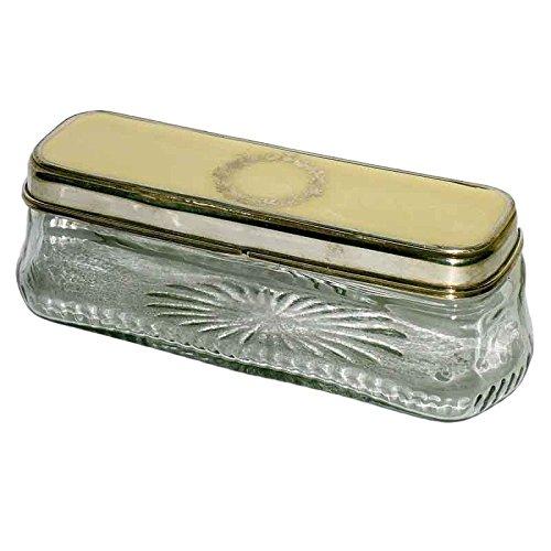 Better & Best 0225183 - Caja de cristal rectangular, baja, con dibujo