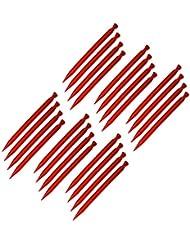 ToCi–24unidades) plástico piquetas (30cm de largo piquetas con anilla y gancho en color rojo