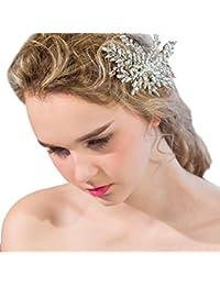 YAZILIND tocado belleza de la mujer nupcial de la boda clip de pelo pasador de aleaci¨®n ramas rhinestones accesorios de pelo de fiesta