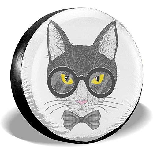 Hiram Cotton Spare Tire Cover Gatti con Gli Occhiali Ruota di Scorta Copertura dei Pneumatici Fuoristrada velocità Estrema Overdrive Univers