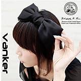Modisch Süß Koreanisch Stil Große Schleife Stirnband Haarschmuck Schwarz
