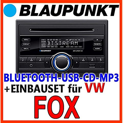 VW Fox - BLAUPUNKT New Jersey 220 BT - CD/MP3/USB Autoradio inkl. Bluetooth - Einbauset