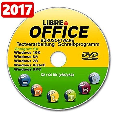 Libre OFFICE 2017 PREMIUM für WINDOWS Betriebssystem 10+8+8.1+7+Vista+XP Schreibprogramm ORIGINAL von STILTEC ©