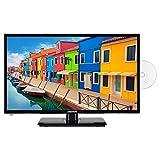 MEDION E12413 59,9 cm (23,6 Zoll) Full HD Fernseher (Triple Tuner, DVB-T2 HD, integrierter DVD-Player, Mediaplayer, 12V KFZ C