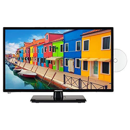 MEDION E12433 59,9 cm (23,6 Zoll) Full HD Fernseher (HD Triple Tuner, DVB-T2 HD, integrierter DVD-Player, CI+, Mediaplayer)