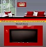 Bio Etanol Chimenea Modell Diana - Elija entre 5 colores (Rojo)