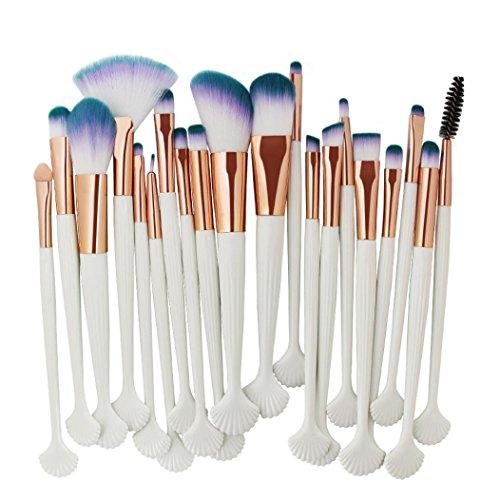 SHOBDW Pinceaux Maquillage Cosmétique Professionnel Cosmétique Brush Beauté Maquillage Brosse Makeup Brushes Cosmétique Fondation avec Sac Abordable, Coquille 22pcs Set/Kit (A)