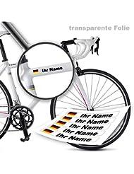 Namensaufkleber von style4Bike | Druck | Top Qualität | Fahrrad Aufkleber Name als Aufkleber | S4B0DRUCK