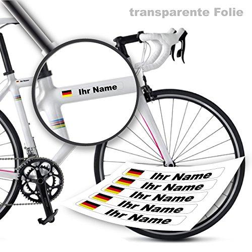 Tops Kundenauftrag (Namensaufkleber von style4Bike | Druck | Top Qualität | Fahrrad Aufkleber Name als Aufkleber | S4B0DRUCK)