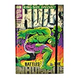 Marvel Comics The Hulk Comic Cover Carnet de notes à couverture rigide Format A5
