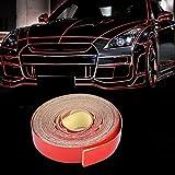beler Rot 5m x 1cm Universal Auto LKW Motorrad Reflektierende Selbstklebende Reflektor Streifen Aufkleber Reflexfolie Reflektorband