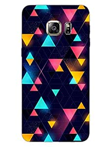 Samsung Note 5 Edge Back Cover - Colorful Triangles - Artistic Pattern - Designer Printed Hard Shell Case