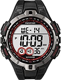 Timex Men's T5K423 Quartz Watch with LCD Dial Digital Display and Black Resin Strap
