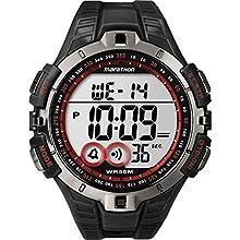 Timex T5K423 Orologio da Polso, Quadrante Digitale Unisex, Cinturino in Resina, Nero/Rosso