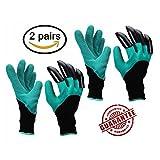 Garten Handschuhe mit Krallen für Graben und Pflanzen Pflanzen einfach zu graben und die Pflanze Rose Sicher für den Garten Gebrauch Genie Handschuhe (2Paar)