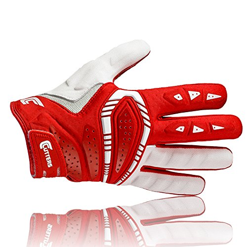 Cutters S650 The Gamer American Football Multi Position Handschuh, rot