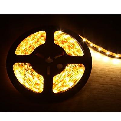 Lighting EVER® Flexibler LED Streifen, Warmweiß, 300 Einheiten 3528 LEDs, 5m je Packung, DIY-Beleuchtung, Dekorationsbeleuchtung, Nicht Wasserdicht von Lighting EVER bei Lampenhans.de