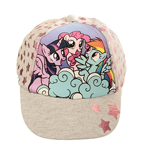 Hasbro Official Licensed Girls My Liittle Pony Summer Grey Baseball Cap Age 1-3 Years Star Design