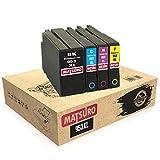 Matsuro Original | Compatibele inktcartridges vervanging voor HP 953XL 953 XL 1 SET Multi-coloured
