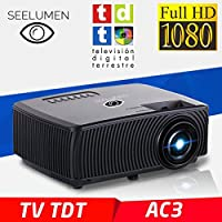 Proiettore Full HD 1080P, seelumen 2018 nuovo modello pw100s, proiettori con TV Maxima luminosità portatile proiettori a LED Proiettore Proiettore LCD con HDMI VGA USB Multimedia con supporto MKV AC3 per PS4, Xbox One, Nintendo Switch, TV DVB-T HD integra - Confronta prezzi