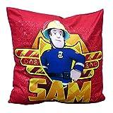 Feuerwehrmann Sam - Kissen Kinder Dekokissen Kuschelkissen Sam 40x40cm