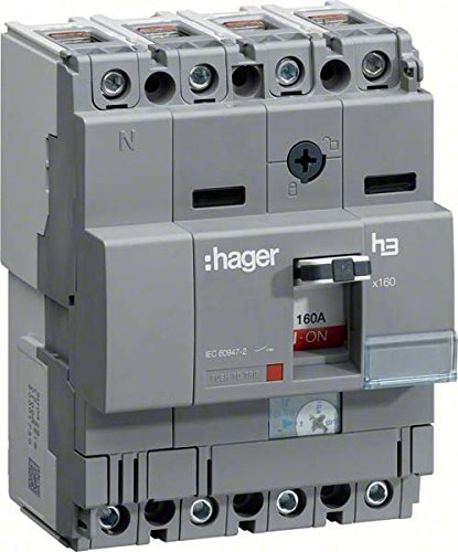 HAGER X160 - INTERRUPTOR AUTOMATICO X160 4P4D 40KA 160A TM REGULABLE FIJA/O