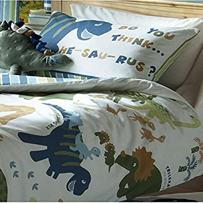 Dinosaur Single Boys Duvet Cover Set Designer Bedding - inexpensive UK light store.