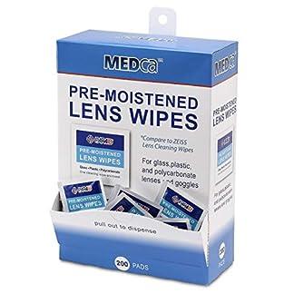 Toallitas para limpiar las gafas MEDca pre humedecidas con dispensador «EMPAQUE DE 200»