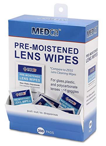 MEDca Brillentücher Reinigungstücher Spender Vorbefeuchtet