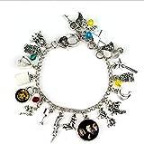 #7: Harry Potter Inspired Multiple Silver Charm Bracelet 19 fan inspired Attractive Design