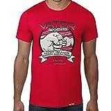 HARIZ Vater & Tochter - Ein Herz und eine Seele//Original T-Shirt - 16 Farben, XS-4XXL//Männer | Geschenk | Geburtstag | Vatertag | Weihnachten #PAPA Collection Red 3XL