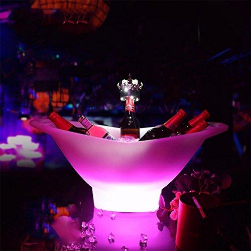 xinye Colorful Ice Bucket 3Liter 16Farbe LED Kunststoff Wasserdicht mit Fernbedienung Stehen Bier Kühler