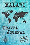 Malawi Travel Journal: Notebook 120 Pages lined 6x9 Vacation Trip Planner Travel Diary Farewell Gift Holiday Planner