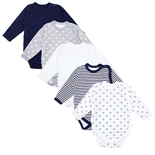 *TupTam Baby Unisex Langarm Wickelbody Print/Uni 5er Pack, Farbe: Mehrfarbig, Größe: 68*