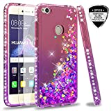 LeYi Case for Huawei P8 Lite 2017 with Glass Screen