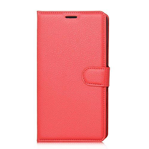 Elephone S3 Smartphone Mappen Kasten, iBetter® Premium PU Leder Mappen Kasten für Elephone S3, Rot