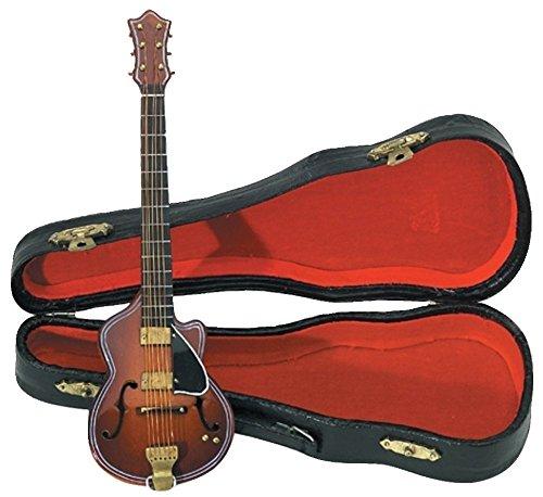 GEWA 980650 - Instrumentos en miniatura, guitarra con estuche, 20 cm
