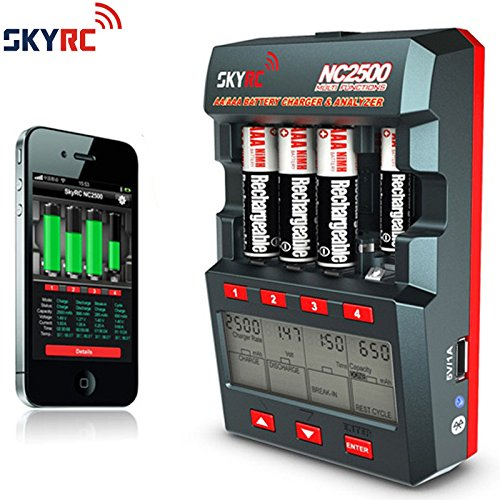 Preisvergleich Produktbild SKYRC NC2500 AA/AAA NiMH/NiCd Batterie Charger Ladegerät Analyzer Akku-Tester mit Bluetooth und Mobil App
