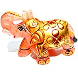 Urancia® Blessing Rose Quartz Gem Stone Elephant Home Decorative Showpiece Attractive Design Pink Quartz Stone Painted Elephant Polishes Rose Quartz Crystal Gemstone Idol Best Gifts Items For Home Decoration Item 280.1Cts