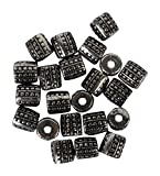AM Acrylic German Silver Beads for jewellery making/ crafts, pack of 50