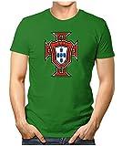 Prilano Herren Fun T-Shirt - Portugal-WM - L - Grün