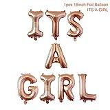 Yalulu It's A Girl Roségold Luftballons Baby Füßchen Folienballons für Luft als Geschenk zur Geburt Eines Mädchen, Baby-Shower-Party Deko Oder Überraschung